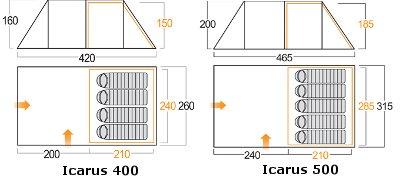 Vango Icarus floorplan